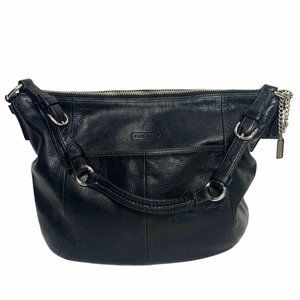 Coach Vintage Genuine Leather Black Hobo Bag 12684
